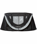 ParentLab journeyBee Portable Crib in Black and Silver