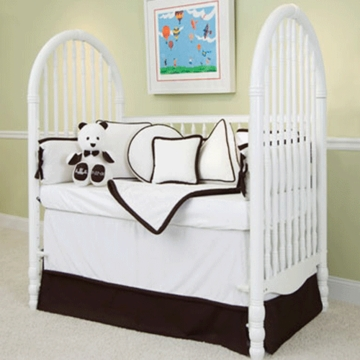 Green Frog Art The MOD Frog 5 Piece Crib Bedding Set in Chocolate