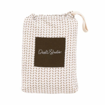 DwellStudio Chervon Chocolate Fitted Crib Sheet