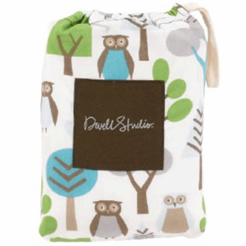 DwellStudio Owls Sky Fitted Crib Sheet