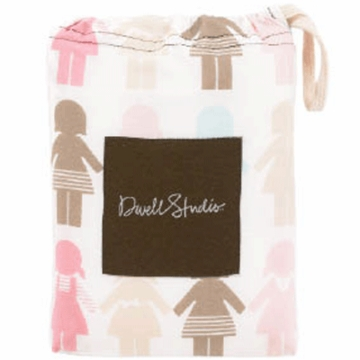 DwellStudio Paper Dolls Petal Fitted Crib Sheet