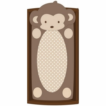 CoCaLo Plush Changing Pad Cover - Monkey Boy