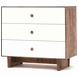 Oeuf Merlin 3-Drawer Dresser - Rhea Base - Walnut/White