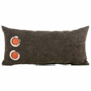 Sweet Potato Echo Throw Pillow - Rectangle with Grommets