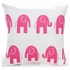 Glenna Jean Ellie & Stretch Throw Pillow - Pink Elephant