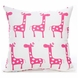 Glenna Jean Ellie & Stretch Throw Pillow - Pink Giraffe