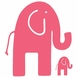 Glenna Jean Pink Elephant Wall Decals - Set of 2