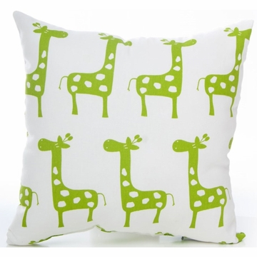 Glenna Jean Ellie & Stretch Throw Pillow - Green Giraffe