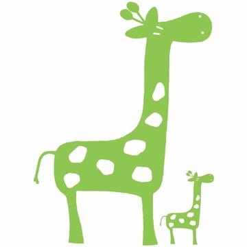 Glenna Jean Green Giraffe Wall Decals - Set of 2