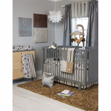 Glenna Jean Grayson 3 Piece Crib Bedding Set