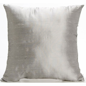 Glenna Jean Grayson Pillow - Gray Silk