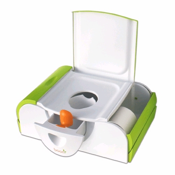 Boon Potty Bench, Training Toilet with Side Storage - Kiwi - 501