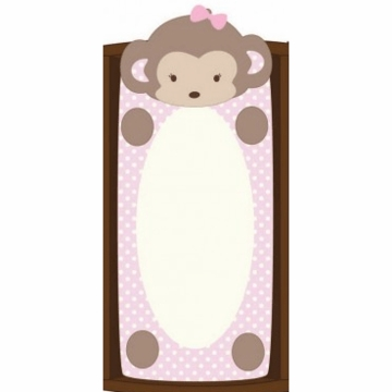 CoCaLo Plush Changing Pad Cover - Monkey Girl