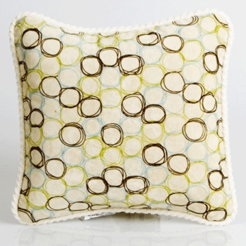 Glenna Jean Spa Cream Circles Pillow