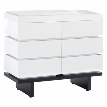 Nurseryworks 2-Wide Changer in White with Dark Base