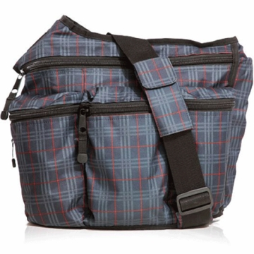 Diaper Dude Diaper Bag in Retro Navy Red Plaid