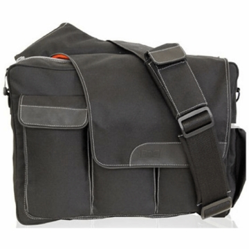 Diaper Dude's DD Flap Messenger II Bag in Black