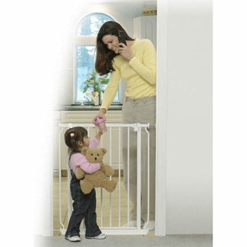 Summer Infant Sure and Secure Extra Tall Walk-Thru Gate in White