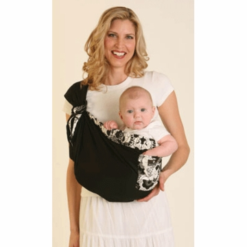 Balboa Baby Adjustable Sling in Black with Geisha Trim