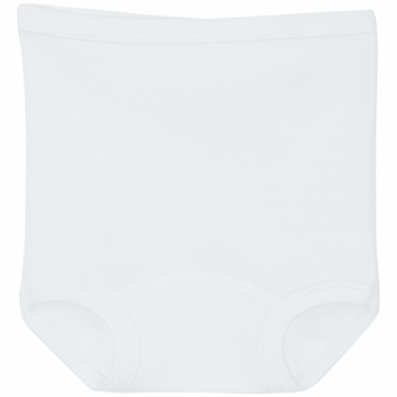 Petit Bateau Baby White Diaper Cover- 12 Months