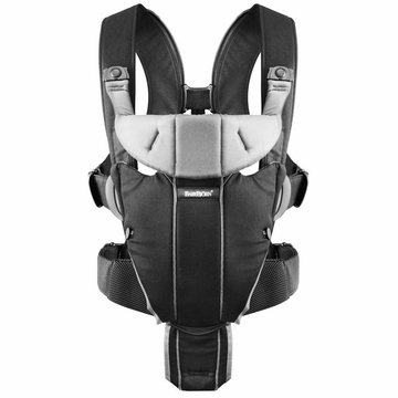 BabyBj�rn Miracle Baby Carrier - Black/Silver