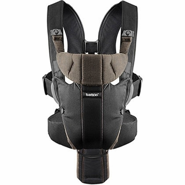 BabyBj�rn Miracle Baby Carrier Organic - Black/Brown