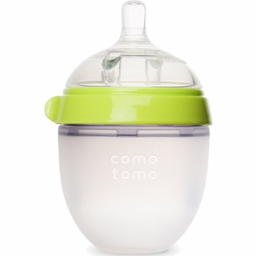 Comotomo Natural Feel Baby Bottle - 5 oz - Green