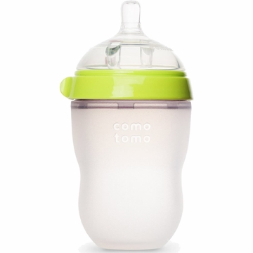 Comotomo Natural Feel Baby Bottle - 8 oz - Green