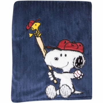Lambs & Ivy Team Snoopy Blanket