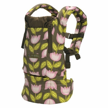 Ergobaby Baby Carrier - Organic Petunia Pickle Bottom Heavenly Holland