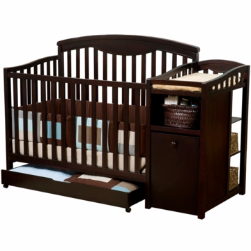 Delta Shelby Crib and Changer in Espresso Cherry