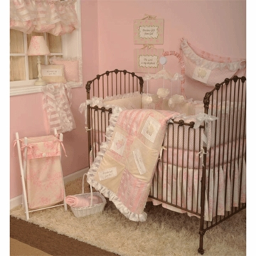 Cotton Tale Heaven Sent Girl 4 Piece Crib Bedding Set