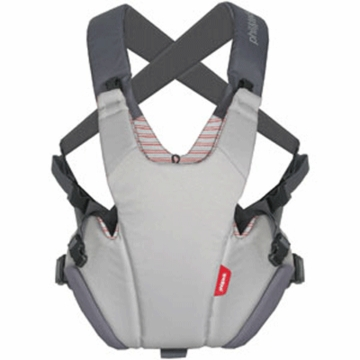 Phil & Teds Pepe Front Carrier in Grey/Red Stripe