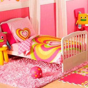 Little Miss Heart to Heart 4 Piece Toddler Bedding Set