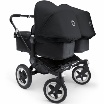 Bugaboo Donkey Twin Stroller in All Black Special Edition