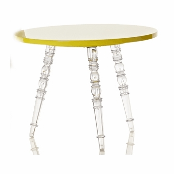 Little Nest Catherine Round Child Table in Yellow
