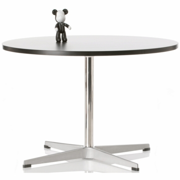 Little Nest Cygnet Child Table in Black with Silver Base