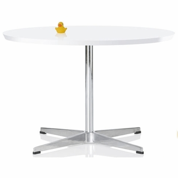 Little Nest Cygnet Child Table in White with Silver Base