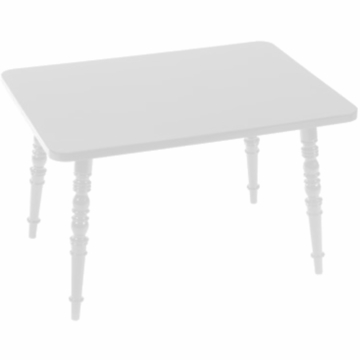 Little Nest William Rectangular Child Table in White