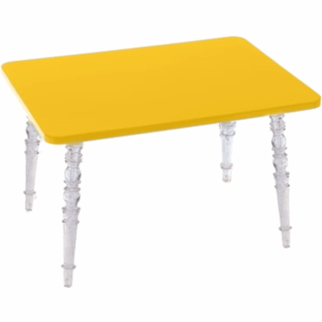 Little Nest William Rectangular Child Table in Yellow