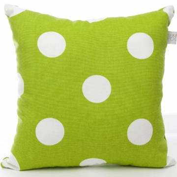 Sweet Potato Dottie Large Green Dot Pillow