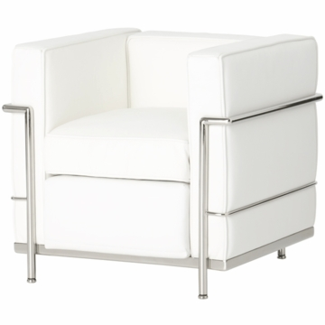 Little Nest  Le Club Child Chair in White with Silver Frame