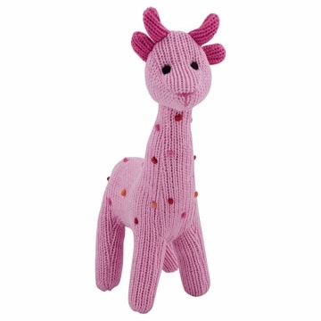 Rich Frog Squeaky Giraffe - Pink