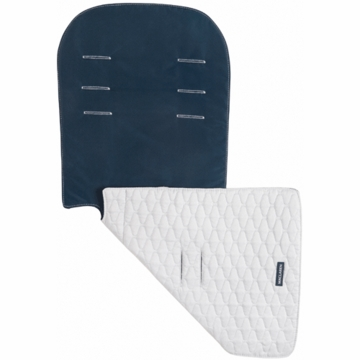Maclaren Reversible Seat Liner Eco Recycled Polyester in Navy & Gray