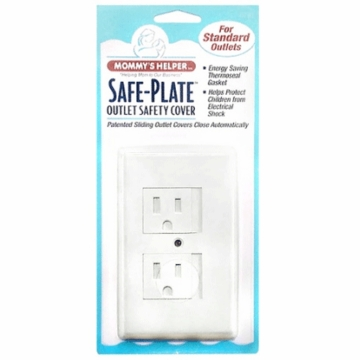 Mommy's Helper Safe Plate Standard Outlet Cover in White