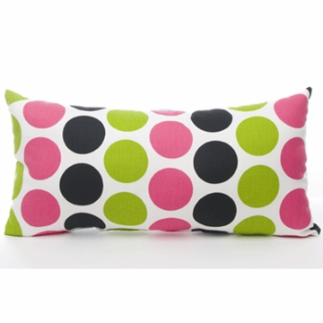 Sweet Potato Dottie Multi Color Dot Rectangle Pillow