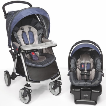 Aprica Moto Lightweight Travel System - Mulberri (Purple)