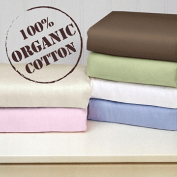 Katie Little Organic Fitted Sheets in Blue