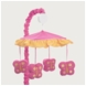 Sweet JoJo Designs Pink & Orange Butterfly Musical Mobile