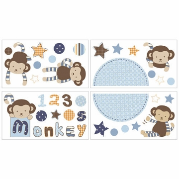 CoCaLo Baby Monkey Mania Removable Wall Appliques